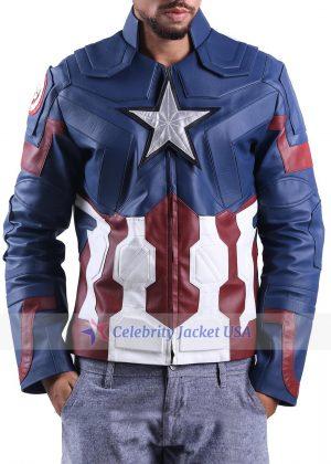 Chris Evans Captain America Civil War Leather Jacket
