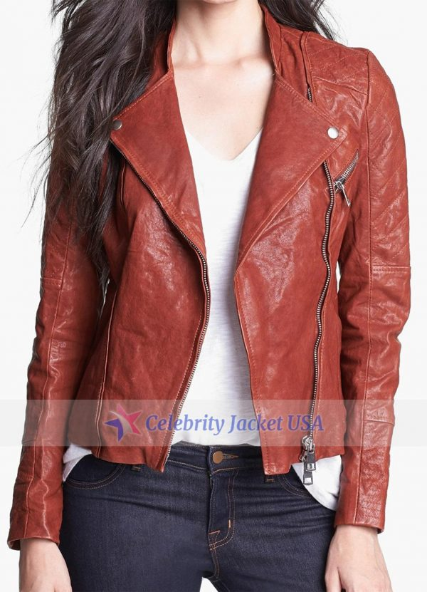 Anastasia Steele Fifty Shades Of Grey Leather Jacket