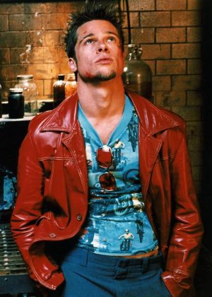 Brad Pitt Fight Club Tyler Durden Red Leather Jacket