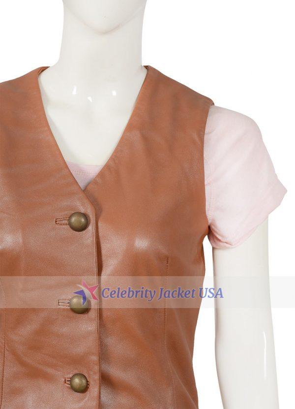 Catherine Bach The Dukes Of Hazzard Daisy Duke Leather Vest