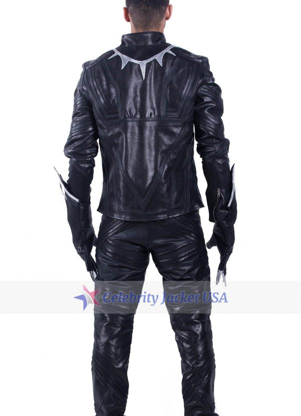 Chadwick Boseman Captain America Civil War Black Panther Jacket