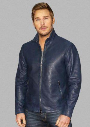 Chris Pratt Mtv Movie Award Blue Leather Jacket