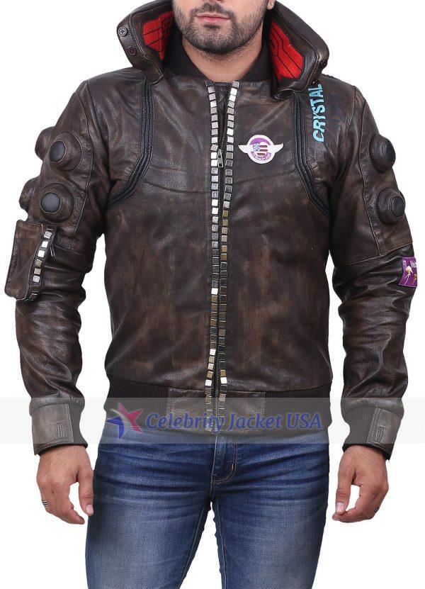 Cyberpunk 2077 Samurai Brown Leather Jacket