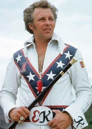 Evel Knievel American Stunt Performer Motorcycle Leather Jacket
