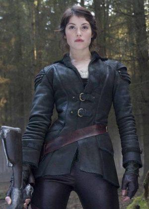 Gemma Arterton Hansel & Gretel Leather Coat