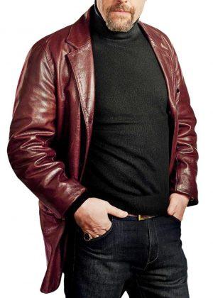 Hugh Grant Gentlemani Fletcher Leather Jacket
