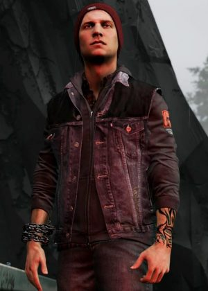 Infamous Second Son Denim Vest And Hooded Jacket