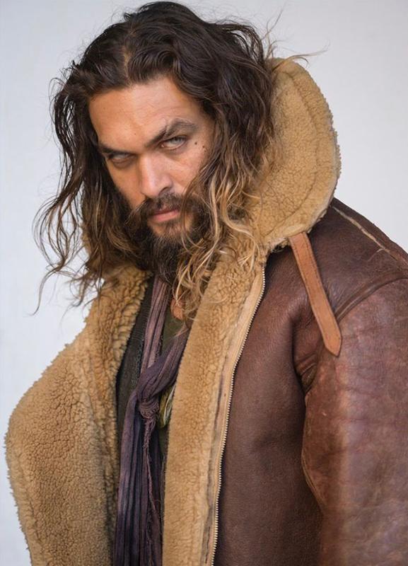 Jason Momoa Aquaman Fur Distressed Leather Jacket