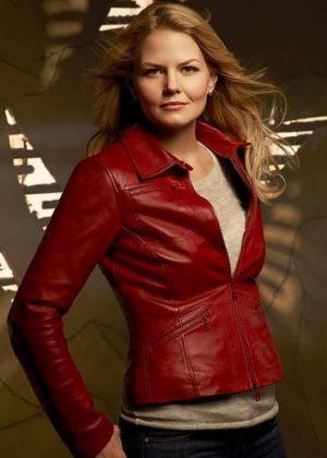 Jennifer Morrison Once Upon A Time Emma Swan Leather Jacket