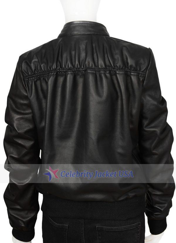 Krma Jade Black Leather Jacket