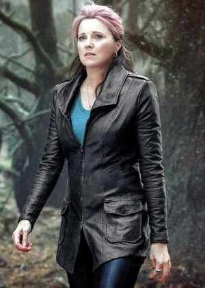 Lucy Lawless Ash Vs Evil Dead Ruby Leather Coat