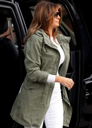 Melania Trump Wore A Jacket