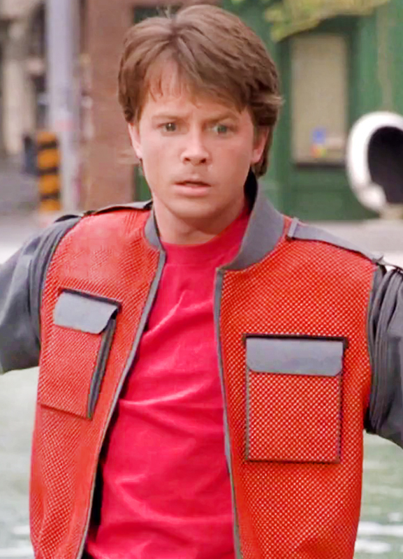 Michael J Fox Back To The Future Part 2 Leather Jacket
