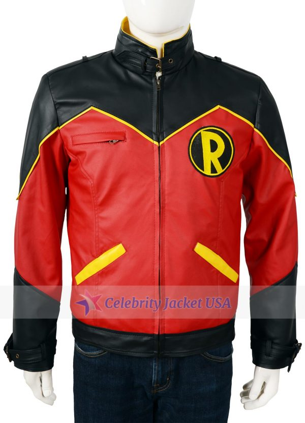 Robin Tim Drake Superhero Leather Jacket