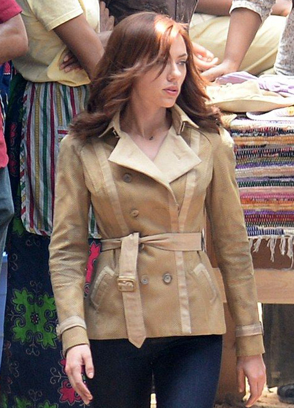 carlett Johansson Black Widow Cotton Jacket