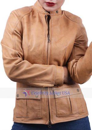 Scarlett Johansson The Avengers Black Widow Leather Jacket