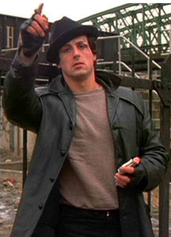 Sylvester Stallone Rocky Leather Coat