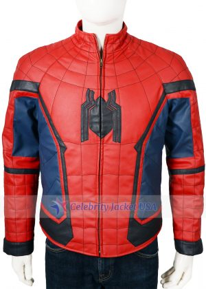 Tom Holland Spider Man Homecoming Leather Jacket