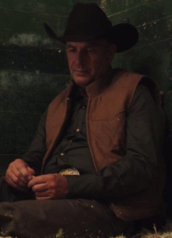 Kevin Costner Yellowstone John Dutton Leather Quilted Vest