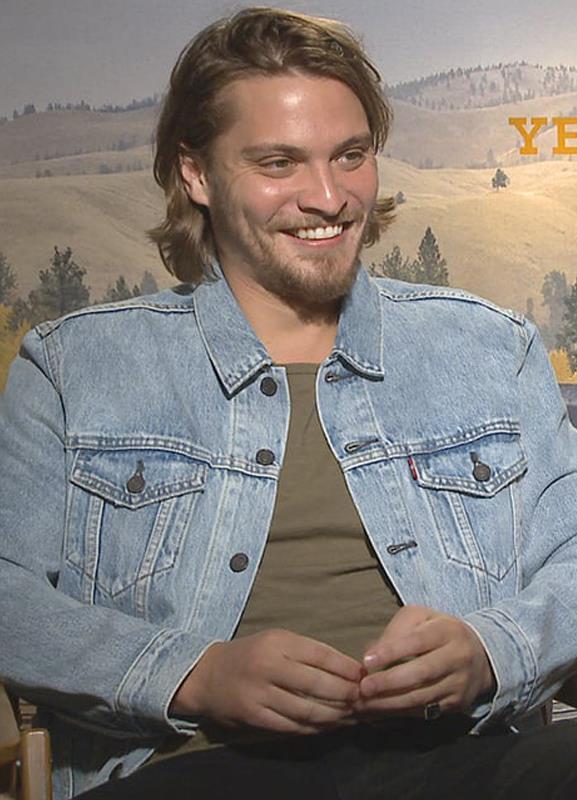 Luke Grimes Yellowstone Kayce Dutton Blue Denim Jacket